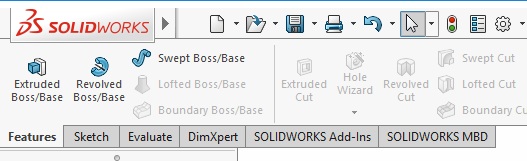 2 solidworks extrude features