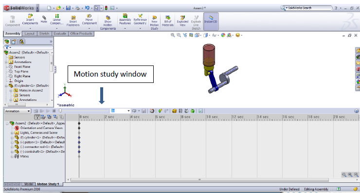 40 106 solidworks motion study tutorial window