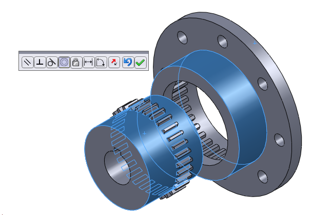 61 117 solidworks assembly concentric mate