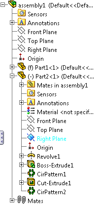 65 117 solidworks assembly design tree