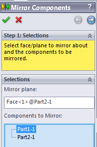 69 117 solidworks assembly mirror component window